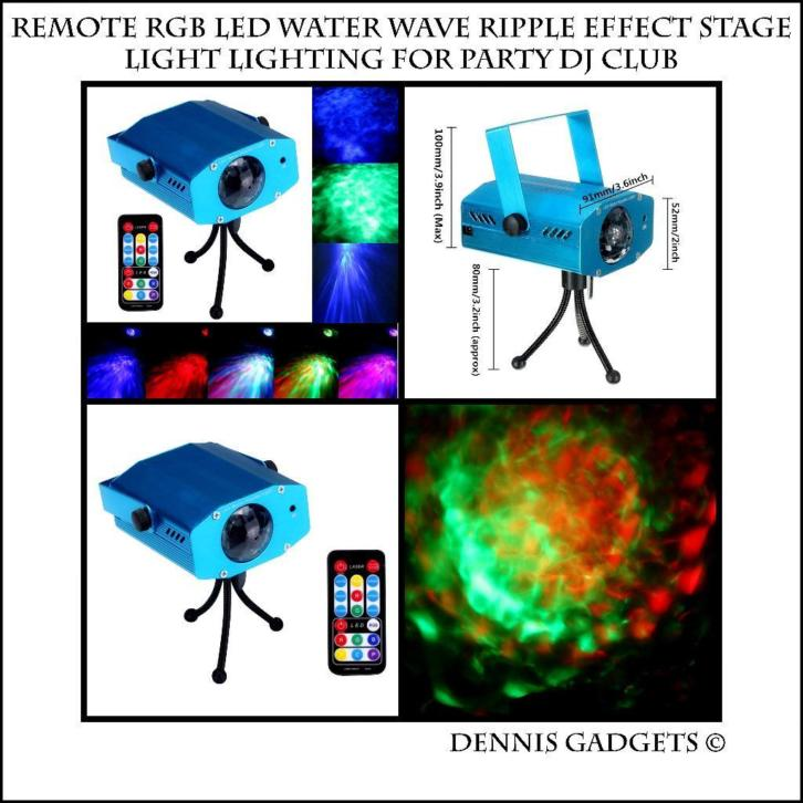 Dennis Gadgets :3W Colorful LED Water Wave Flowing DJ Effect