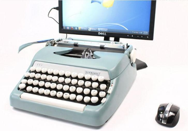 USB Typewriter Smith Corona Sterling Computer Keyboard iP...