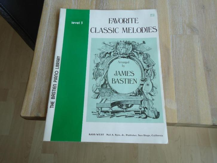 the Bastien piano library favorite classic melodies level 3