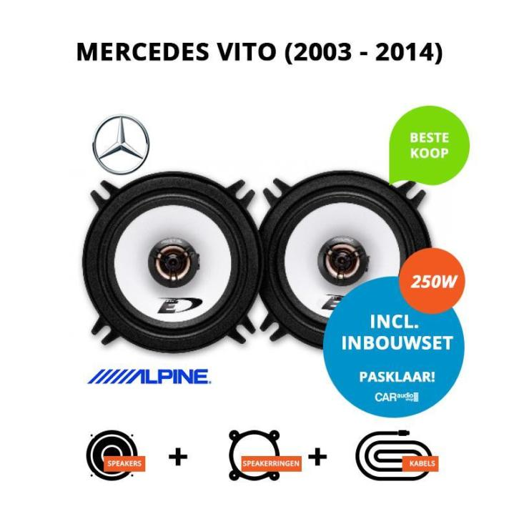 Speakers voor Mercedes Vito (2003-2014) (Pasklare speakers)