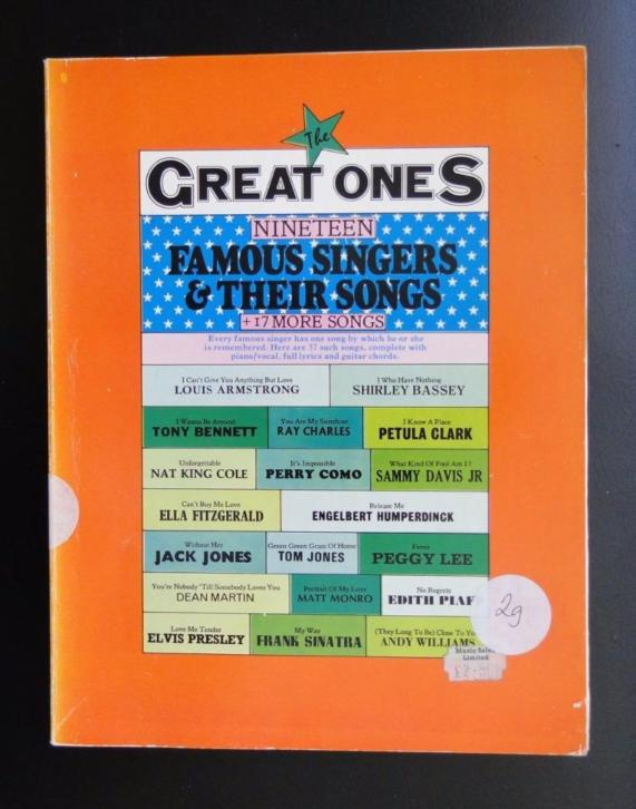 The Great Ones (19 Famous Singers & their Songs)
