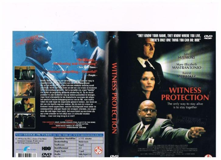 Nieuw dvd Witness Protection