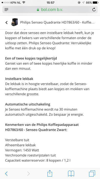 Philips Senseo Quadrante