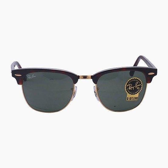 Rayban Clubmaster RB3016 W0366 - Zonnebril - Bruin/Groen 49