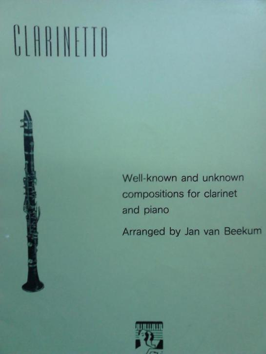 Clarinetto for Clarinet and Piano J.van Beekum