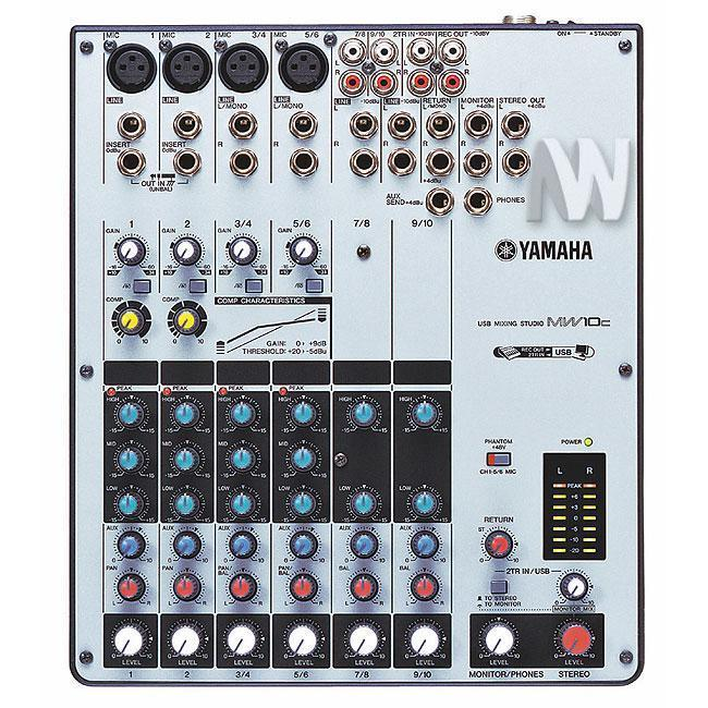 Yamaha MW10C Studio mixer met USB-audio-interface
