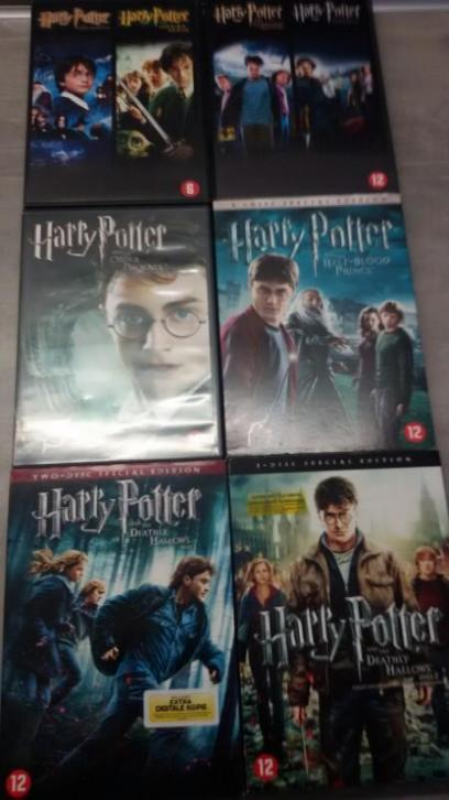 DVD'S van Harry Potter alle 8
