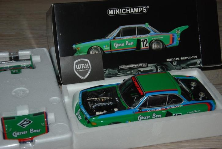 BMW 3.5 CSL #12 Quester Gosser Beer Minichamps 180762012 WRH