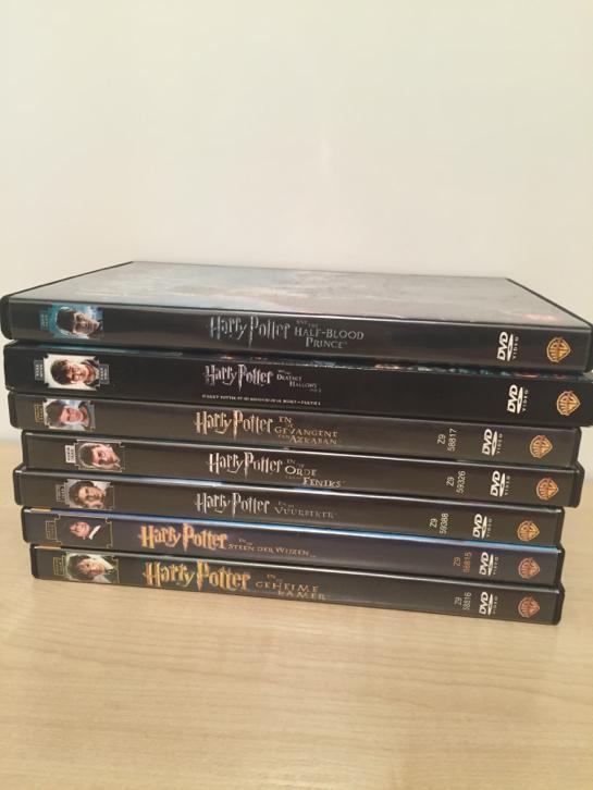 7 van de 8 harry potter dvd's