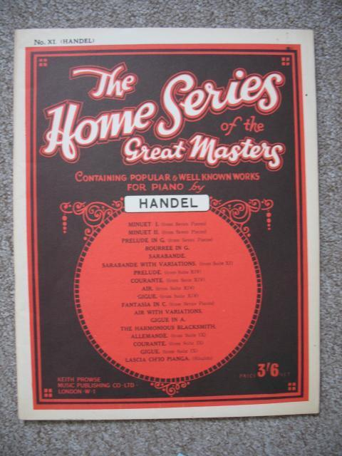 Handel The Home Series of the great masters no 11 adv. 45