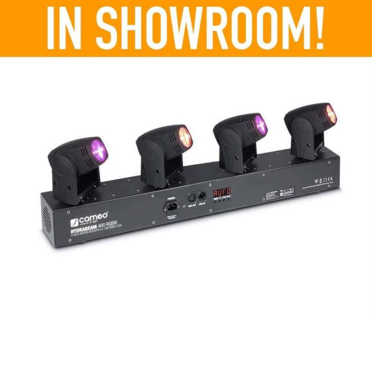 Hydrabeam 400RGBW 4 RGBW moving-heads op bar