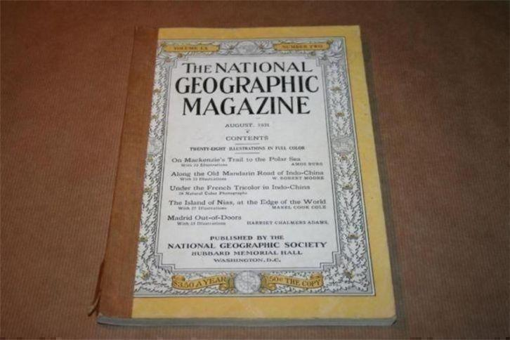 Nat Geographic Magazine - 1931 !! - over oa Indo-China !!