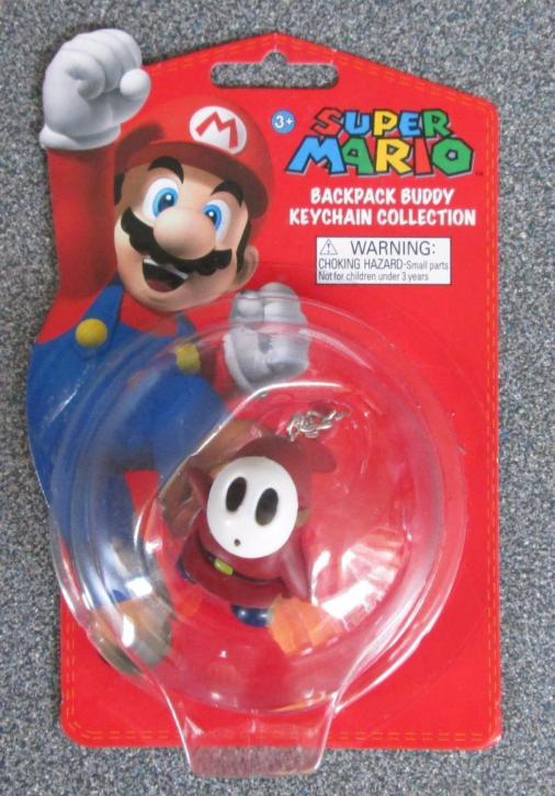 Super Mario Backpack Buddy Keychain Collection '' Shy Guy ""
