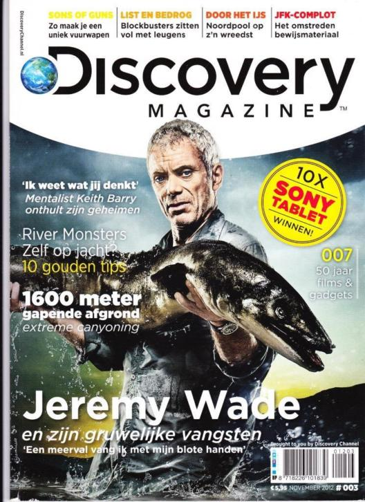 Discovery Magazine Jeremy Wade River Monsters 2012