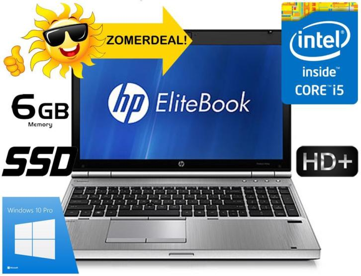 "ZOMERDEALS! HP 8560p | 120SSD | 6Gb |15,6"" HD+ 1600*900 