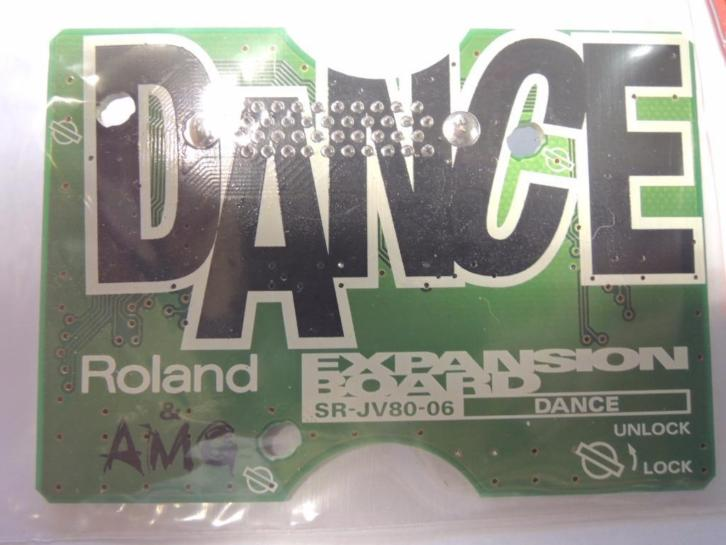 Roland sr-jv80-06 DANCE expansion board. SCHAARS!!
