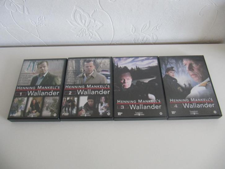 4 x dvd box set WALLANDER serie seizoen 1 2 3 & 4 Lumiere