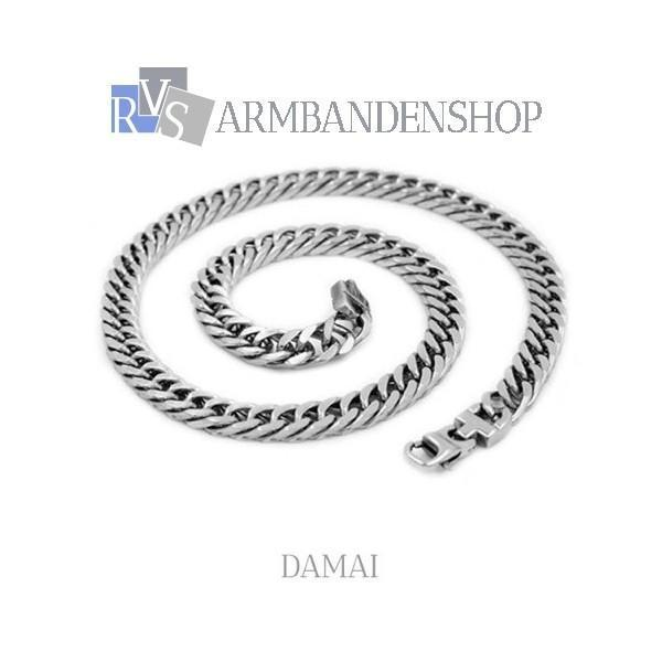 "Rvs heren ketting ""Damai""."