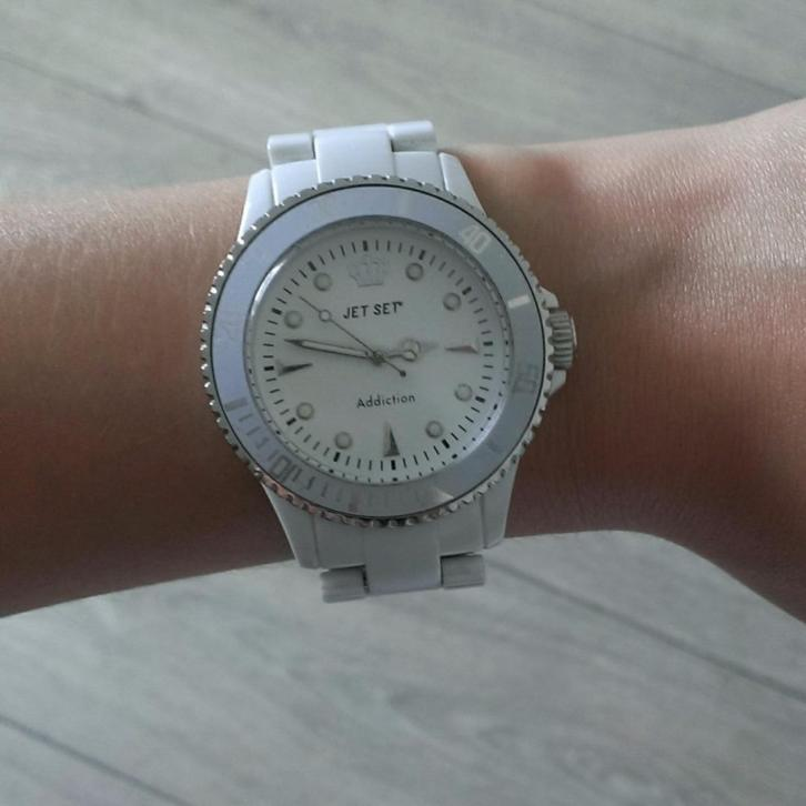 Jet Set horloge wit dames