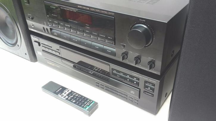 SONY Super Set: RECEIVER + 5 CD-Wisselaar + 120 watt JAMO's