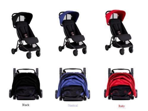 Mountain Buggy Nano model 2015, zwart/blauw