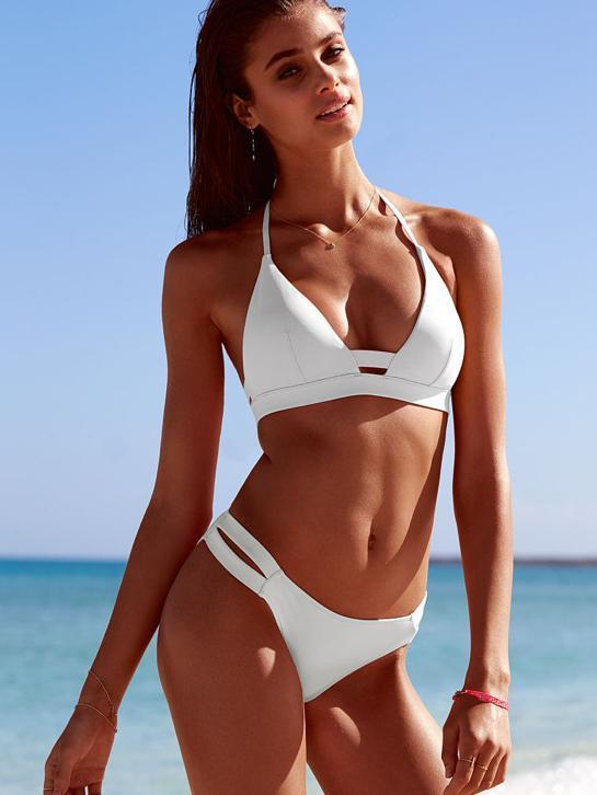 Victoria secret bikini white double banded