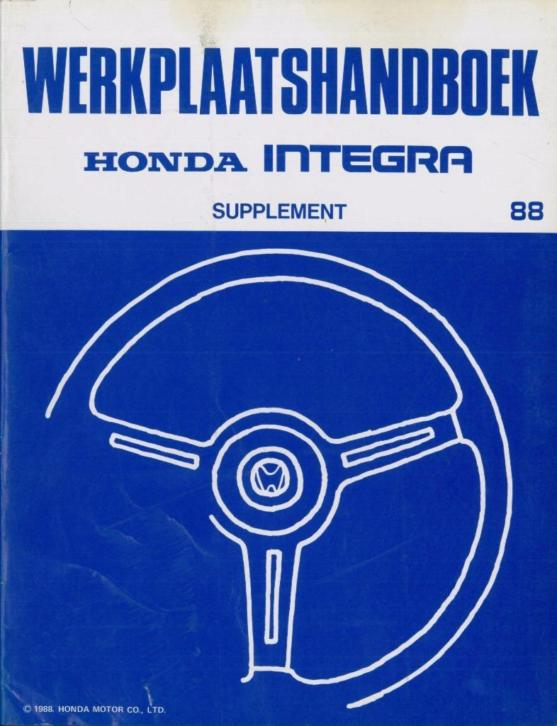 1988 Honda Integra Werkplaatshandboek Supplement Nederlands