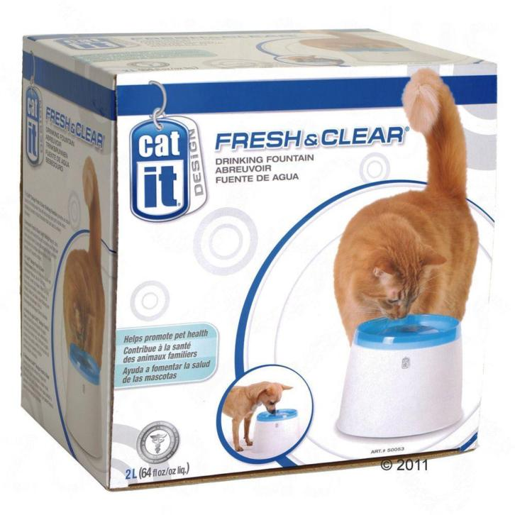 Catit Design Fresh & Clear drinkfontein 2 l - Wit / Blauw