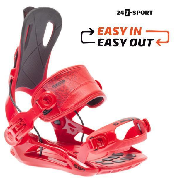 Fastec snowboardbindingen. Easy in Easy out nu 89.99