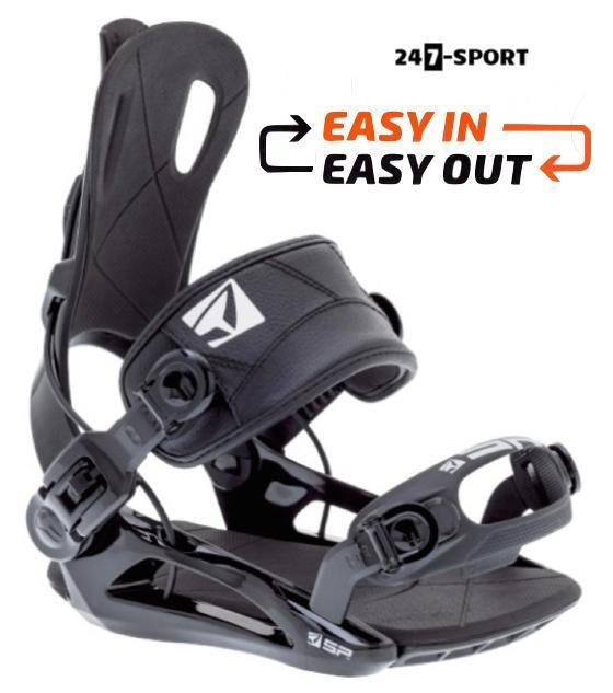Fastec snowboardbindingen. Easy in - Easy out 89.99
