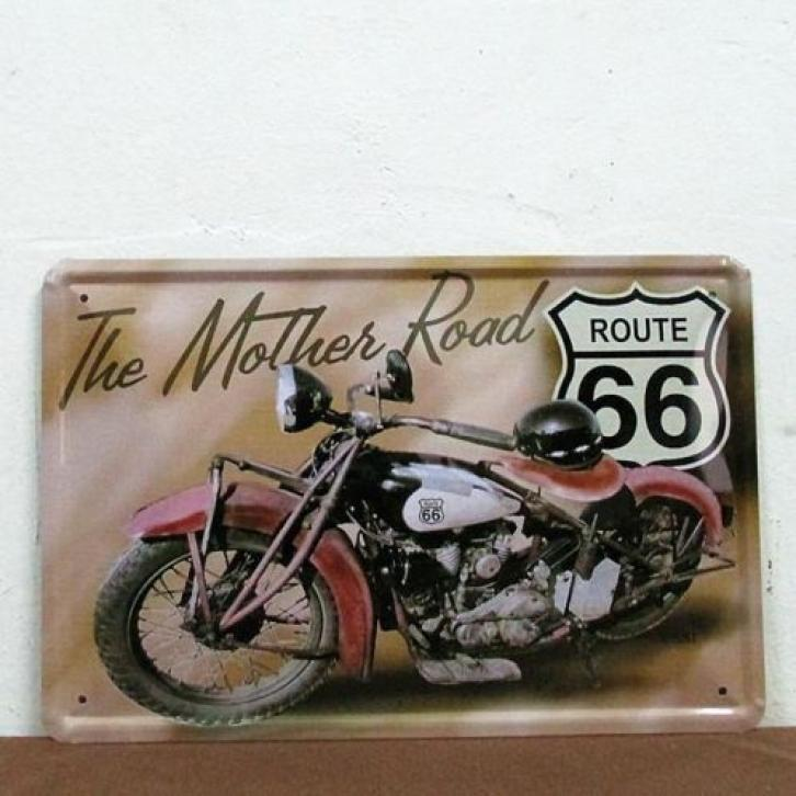 Route 66 The Mother Road Reclamebord - Motor bord