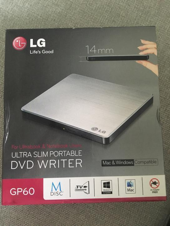 LG Ultra Slim DVD Writer