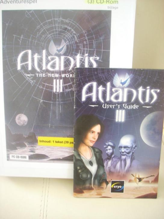 3 stuks CD-ROM Atlantis III -The New World - 2001 Ned.ondert