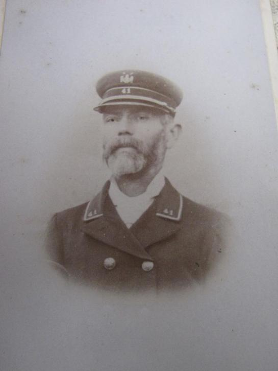Antieke CDV / België - man in uniform Regiment Nr 41