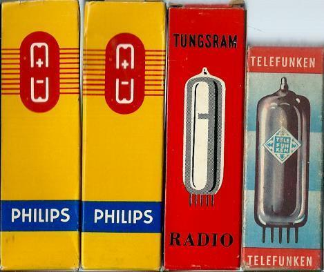 4 Radiobuizen Philips ECC 82