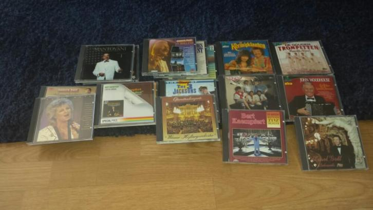 Box met cd's