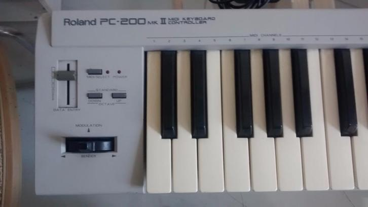 Midi keyboard controller Roland PC200 MKii met USB adapter