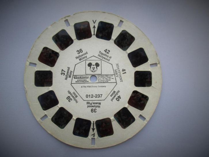 Mickey Mouse~Oude View-Master Schijf~Reel~Viewmaster~View