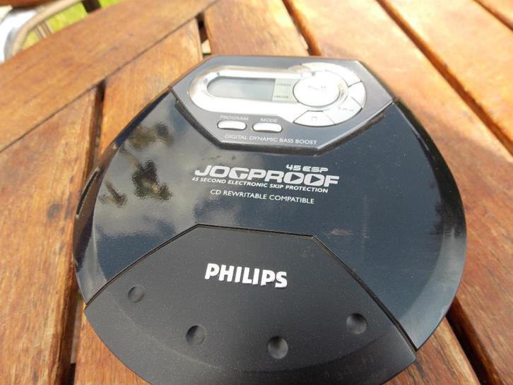philips 45 esp jogproof cd discman disc man zwart