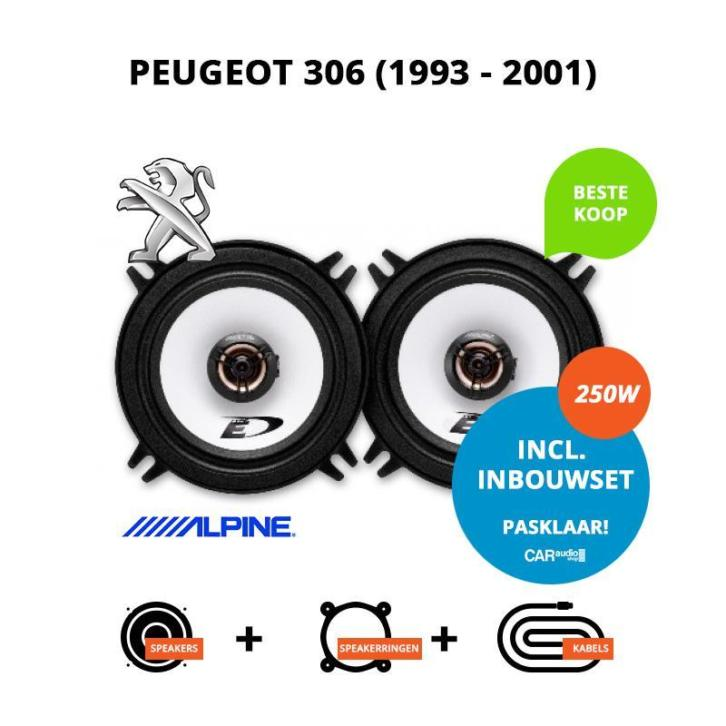 Speakers voor Peugeot 306 XN (1993-2001) (Pasklare speakers)