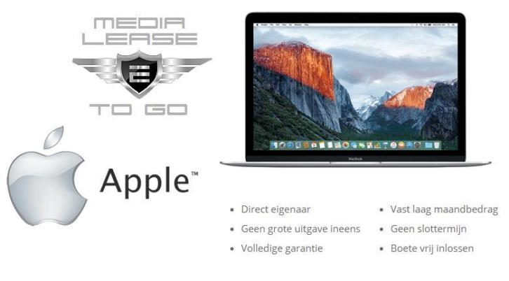 APPLE MACBOOK Lease Prijzen Vanaf € 39,00 P/M