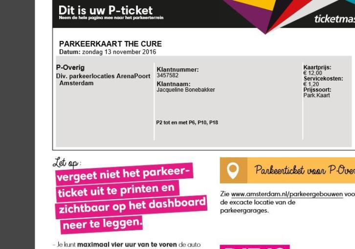 Te koop: 2 kaarten THE CURE 13 november ZIGGODOME