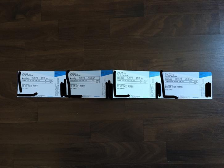 Red Hot Chili Pepper Tickets - Vak 110 Premium TOP PLAATSEN!