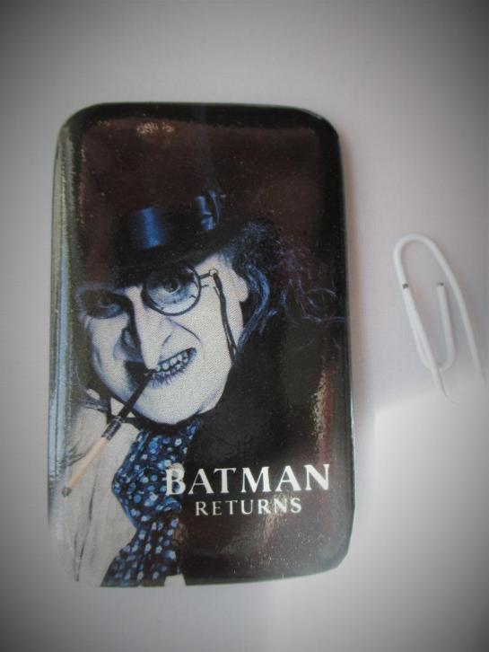 Batman Returns~Speldje Penguin~Blik~Blikken Speld~Broche
