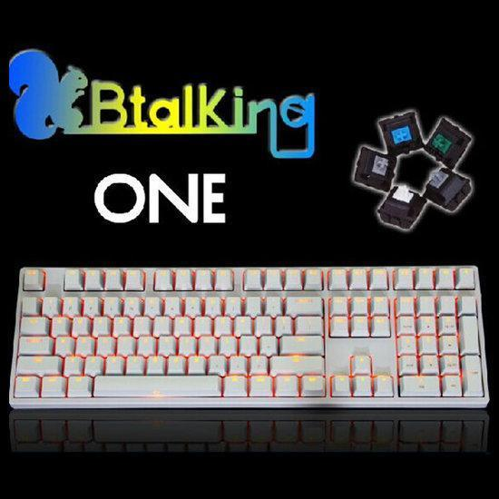 Cherry White KBT KBTalking ONE 108 Backlit Mechanical Gam...