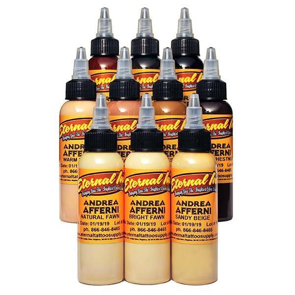 Tattoo InktAndrea Afferni Portrait Set 10 Colour Set 30ml C