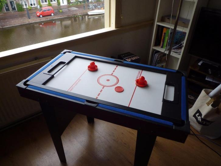 3-in-1 speltafel (Tafeltennis, Pool, Hockey game)