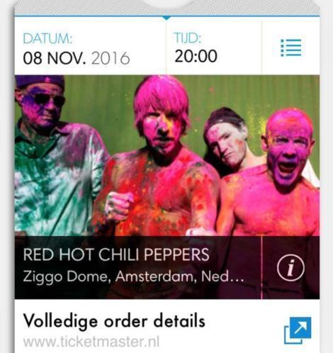 4 staanplaatsen 8 nov Red Hot Chili Peppers Ziggo Dome