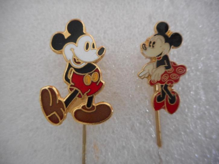 MICKEY en MINNIE MOUSE emaille