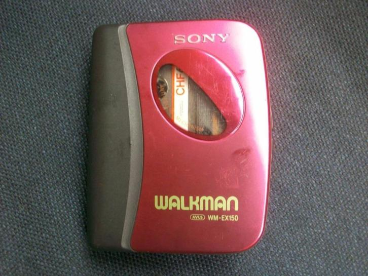 Sony walkman WM-EX150 metalic rood